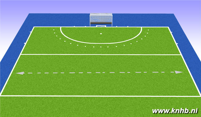 Hockey Session Plan Drill (Colour): inlopen