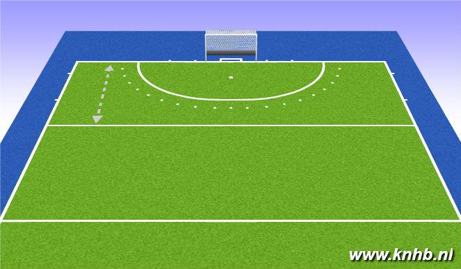 Hockey Session Plan Drill (Colour): shuttles