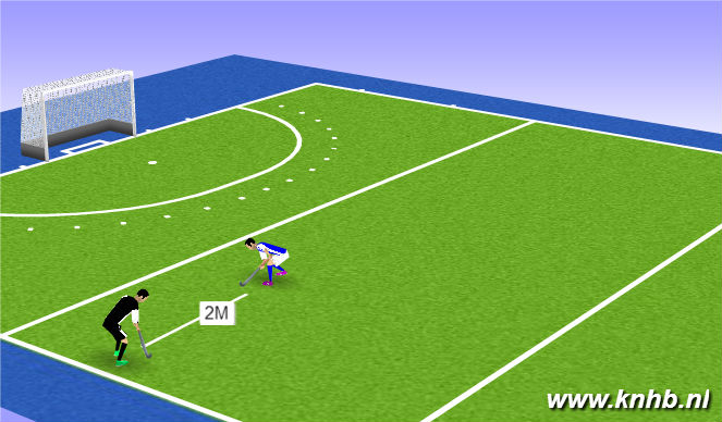Hockey Session Plan Drill (Colour): backhand