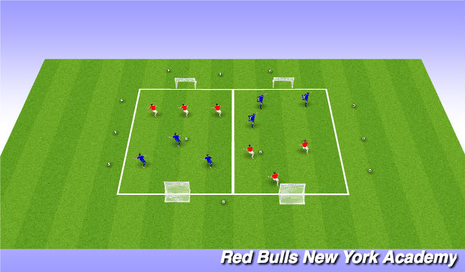 Football/Soccer Session Plan Drill (Colour): FREE GAME