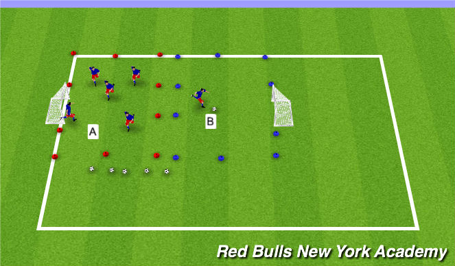 Football/Soccer Session Plan Drill (Colour): U6 Activity