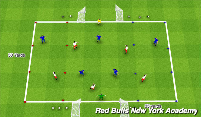 Football/Soccer Session Plan Drill (Colour): Game Time