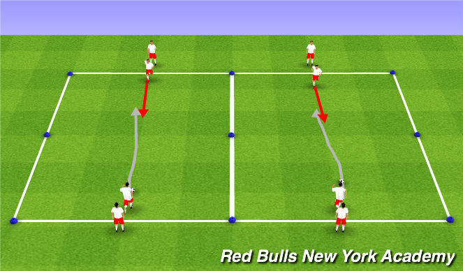 Football/Soccer Session Plan Drill (Colour): Pre Game Warm Up