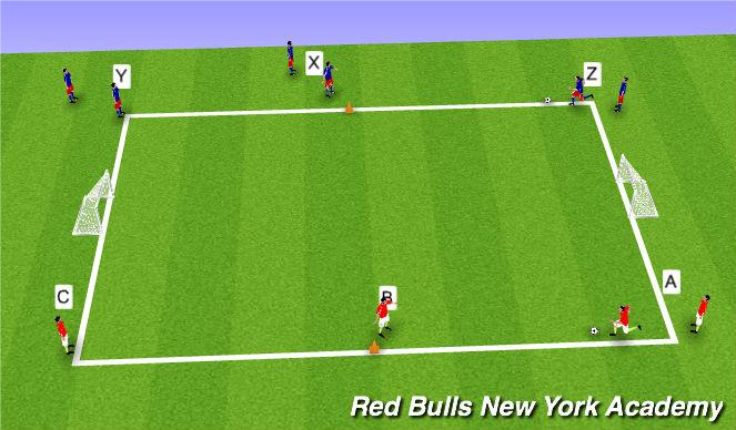 Football/Soccer Session Plan Drill (Colour): Running W/Ball