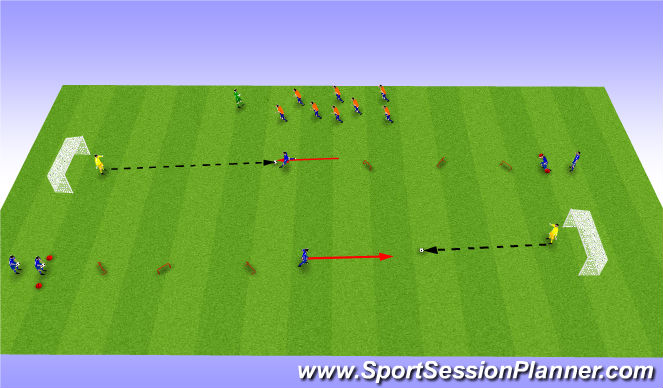 Football/Soccer Session Plan Drill (Colour): Líkamsþjálfun