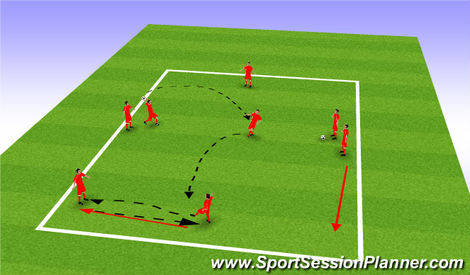 Football/Soccer Session Plan Drill (Colour): Receive on volley prog