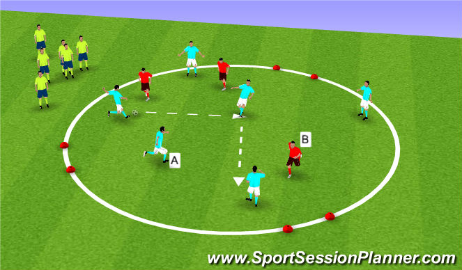 Football/Soccer Session Plan Drill (Colour): Touch and Go