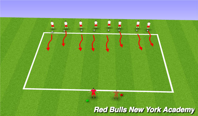 Football/Soccer Session Plan Drill (Colour): Green/Red Light dribbling