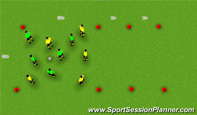 Football/Soccer Session Plan Drill (Colour): Exercise 7