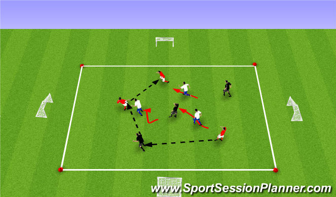 Football/Soccer Session Plan Drill (Colour): Upphitun 2: