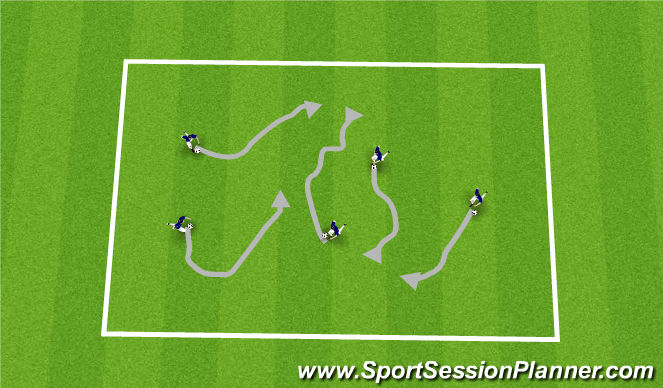 Football/Soccer Session Plan Drill (Colour): Coach says....