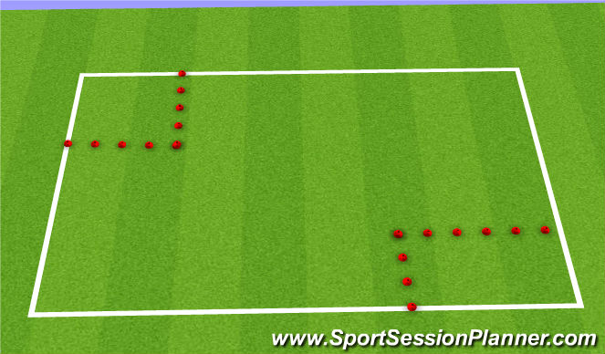 Football/Soccer Session Plan Drill (Colour): Fill your basket
