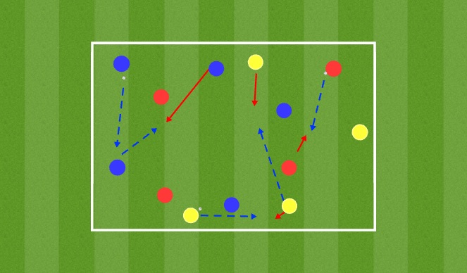 Football/Soccer Session Plan Drill (Colour): Stage 1: Warm Up