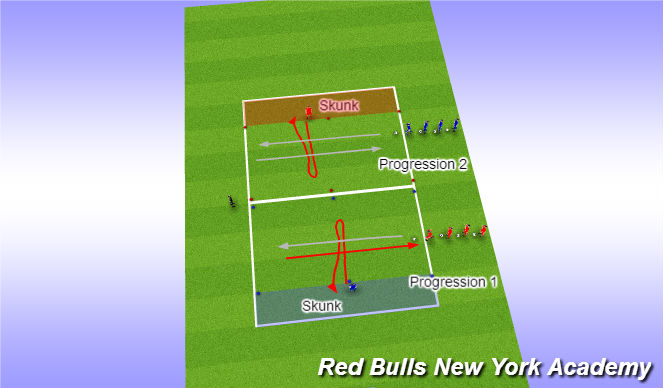 Football/Soccer Session Plan Drill (Colour): Opposed- hungry skunk