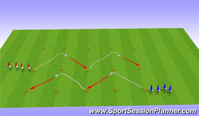 Football/Soccer Session Plan Drill (Colour): Y Moves