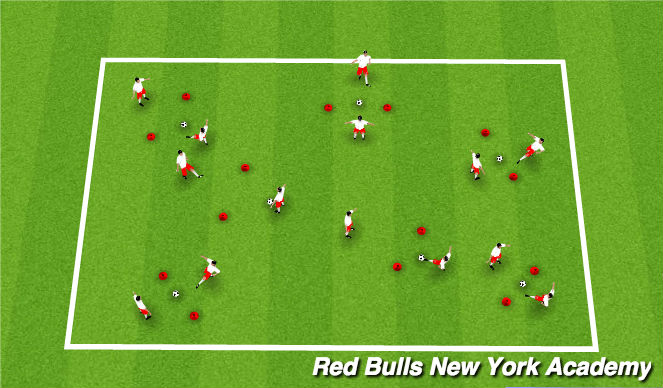 Football/Soccer Session Plan Drill (Colour): Passing and Precision