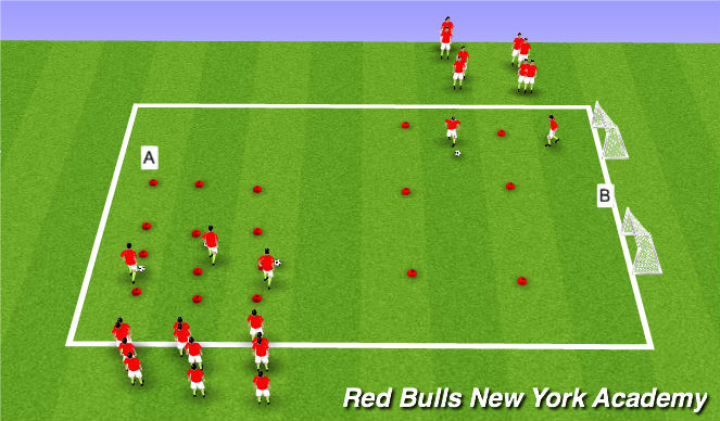 Football/Soccer Session Plan Drill (Colour): Inside Cut
