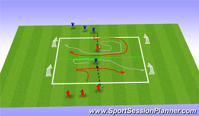 Football/Soccer Session Plan Drill (Colour): Game (Fully Opposed)