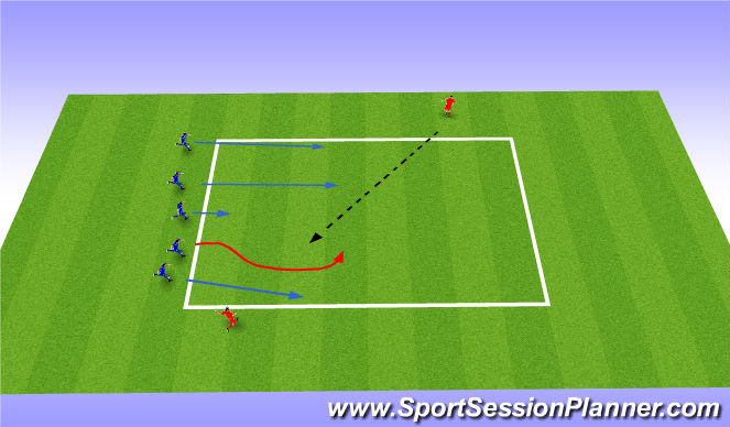 Football/Soccer Session Plan Drill (Colour): Skill (Semi Opposed)
