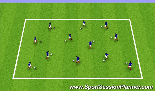 Football/Soccer Session Plan Drill (Colour): Individual Footskills