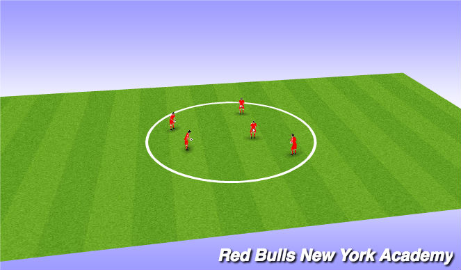 Football/Soccer Session Plan Drill (Colour): Cool Down