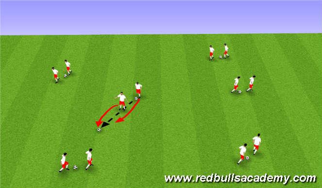 Football/Soccer Session Plan Drill (Colour): Upphitun.