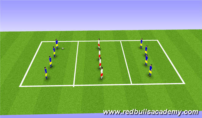 Football/Soccer Session Plan Drill (Colour): Sendingaleikur.