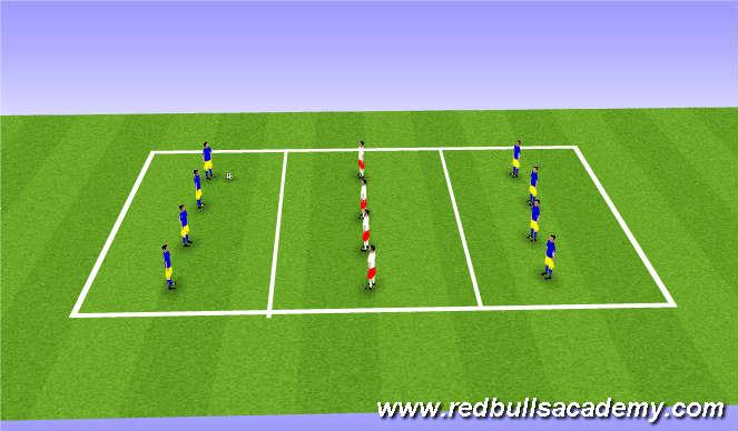 Football/Soccer Session Plan Drill (Colour): Sendingaleikur.