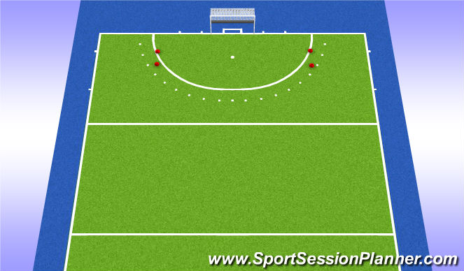 Hockey Session Plan Drill (Colour): Cirkelpartij