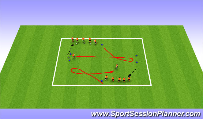 Football/Soccer Session Plan Drill (Colour): 1v1 U-Turn Technique