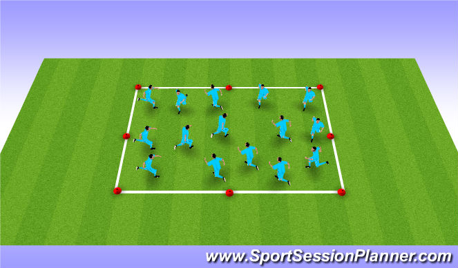 Football/Soccer Session Plan Drill (Colour): Warm Up 2 - Ball Work