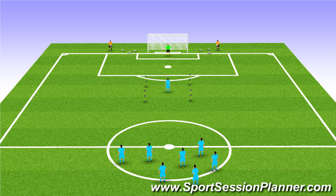 Football/Soccer Session Plan Drill (Colour): 2 Touch Box Challenge