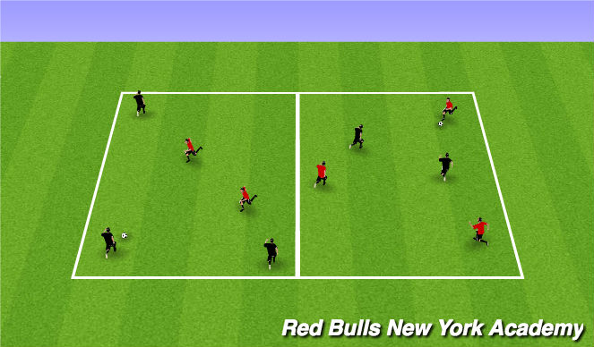 Football/Soccer Session Plan Drill (Colour): 3v2 Possession