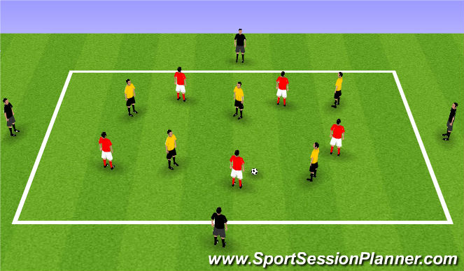 Football/Soccer Session Plan Drill (Colour): Keeping and Risking