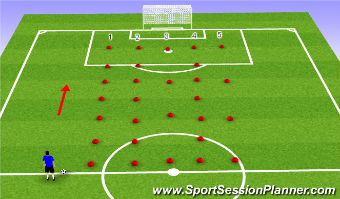 Football/Soccer Session Plan Drill (Colour): Monday Gym Session