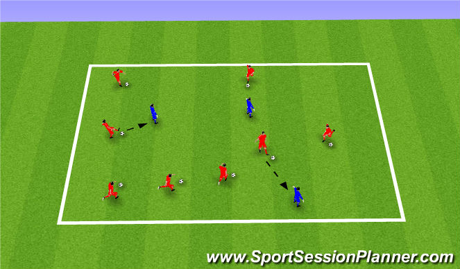 Football/Soccer Session Plan Drill (Colour): Robot