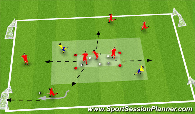 Football/Soccer Session Plan Drill (Colour): Minions