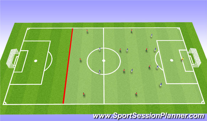 Football/Soccer Session Plan Drill (Colour): FREEPLAY