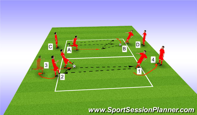 Football/Soccer Session Plan Drill (Colour): Set-Pass