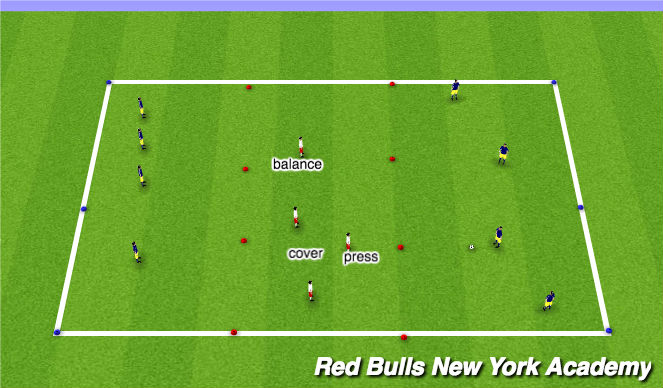 Football/Soccer Session Plan Drill (Colour): Warmp up II