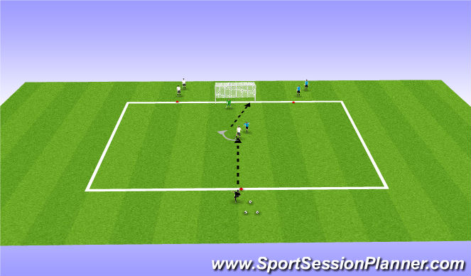 Football/Soccer Session Plan Drill (Colour): situation