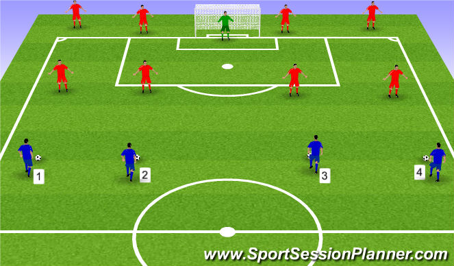 Football/Soccer Session Plan Drill (Colour): Defensive Activity