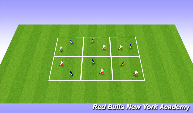 Football/Soccer Session Plan Drill (Colour): Warm Up: Knee Slap