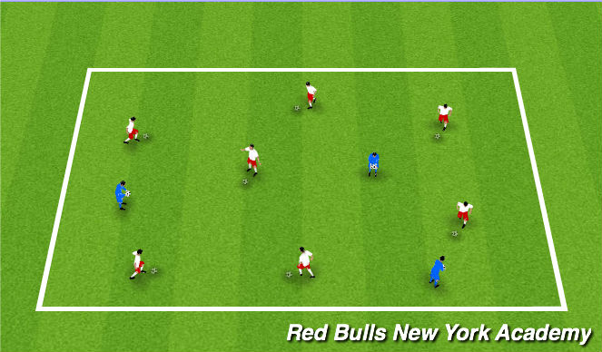 Football/Soccer Session Plan Drill (Colour): MARBLE KINGS/QUEENS