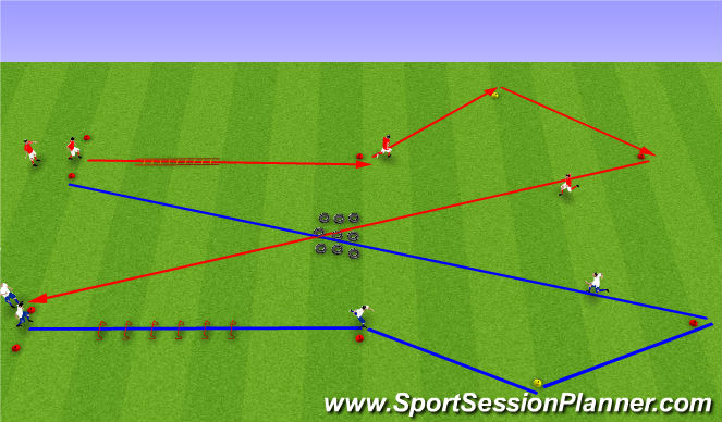 Football/Soccer Session Plan Drill (Colour): 1. Upphitun (10mín).