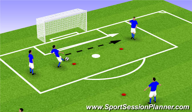 Football/Soccer Session Plan Drill (Colour): Technical - Switch of Play