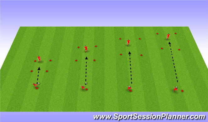 Football/Soccer Session Plan Drill (Colour): Station 2