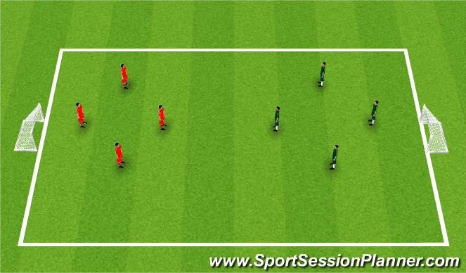 Football/Soccer Session Plan Drill (Colour): Station 4