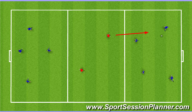 Football/Soccer Session Plan Drill (Colour): Passing+Moving