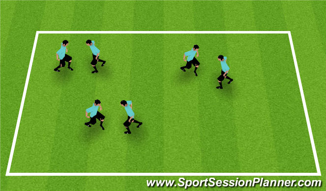 Football/Soccer Session Plan Drill (Colour): ABCs - Knee Boxing